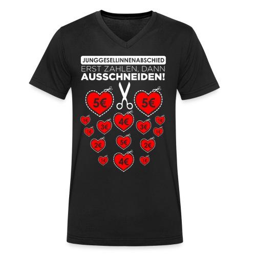 Bitte ausschneiden! - Männer Bio-T-Shirt mit V-Ausschnitt von Stanley & Stella