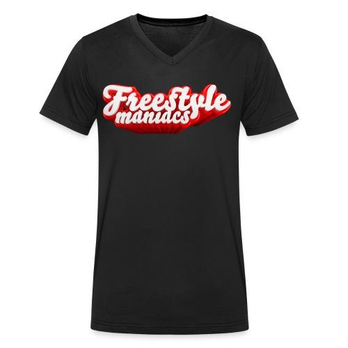 Freestyle Maniacs red - Mannen bio T-shirt met V-hals van Stanley & Stella