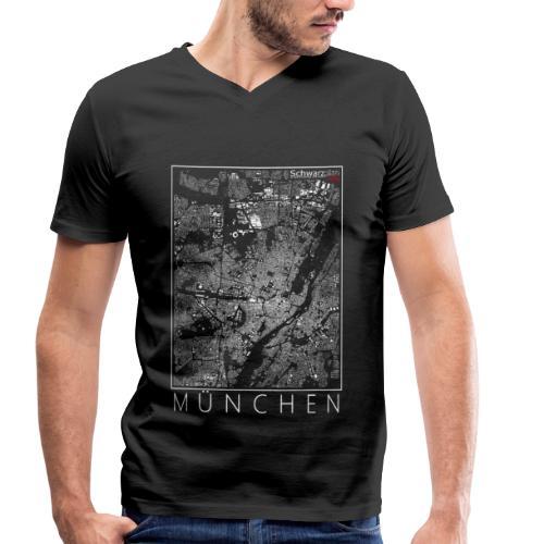Schwarzplan München Figureground Diagram - Männer Bio-T-Shirt mit V-Ausschnitt von Stanley & Stella
