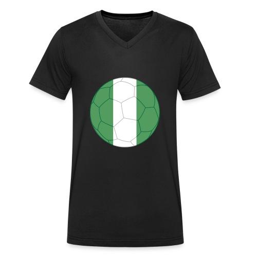 nigeria flag soccer - Männer Bio-T-Shirt mit V-Ausschnitt von Stanley & Stella