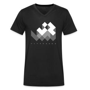 LOGO VIPTRACKS RELEASES - Mannen bio T-shirt met V-hals van Stanley & Stella