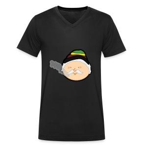 Reggae Grandpa - Mannen bio T-shirt met V-hals van Stanley & Stella