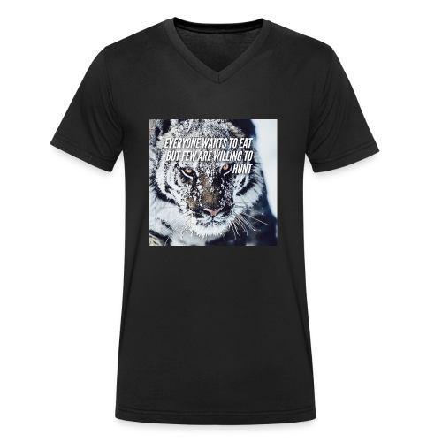 Eat Hunt - Mannen bio T-shirt met V-hals van Stanley & Stella