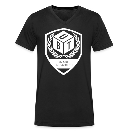 Logo_weiß - Männer Bio-T-Shirt mit V-Ausschnitt von Stanley & Stella