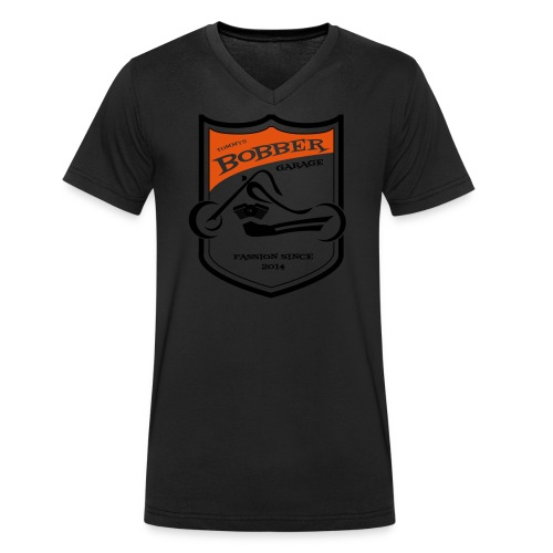 2017 07 Thomas LogoBobberGarage gestanzt - Männer Bio-T-Shirt mit V-Ausschnitt von Stanley & Stella