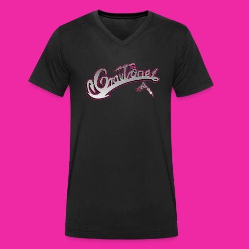 Logo Grautoene neu1 jpgshop - Männer Bio-T-Shirt mit V-Ausschnitt von Stanley & Stella