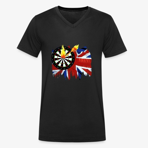 Burning Dart - Männer Bio-T-Shirt mit V-Ausschnitt von Stanley & Stella