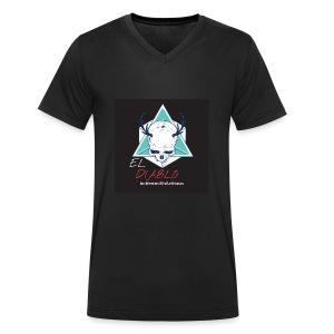 el diablo luciferous feat elitaxxx - T-shirt ecologica da uomo con scollo a V di Stanley & Stella