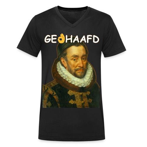 GeHANDhaafd - Mannen bio T-shirt met V-hals van Stanley & Stella