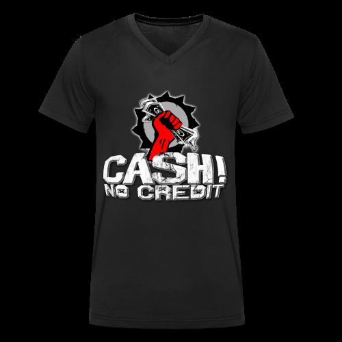 Official Cash! No Credit Merch - Männer Bio-T-Shirt mit V-Ausschnitt von Stanley & Stella