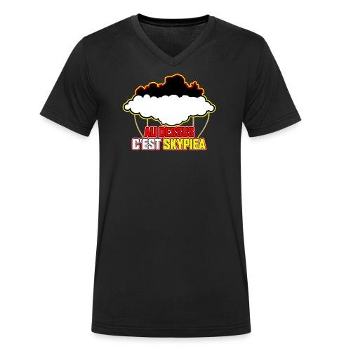 AU DESSUS C'EST SKYPIEA - T-shirt bio col V Stanley & Stella Homme