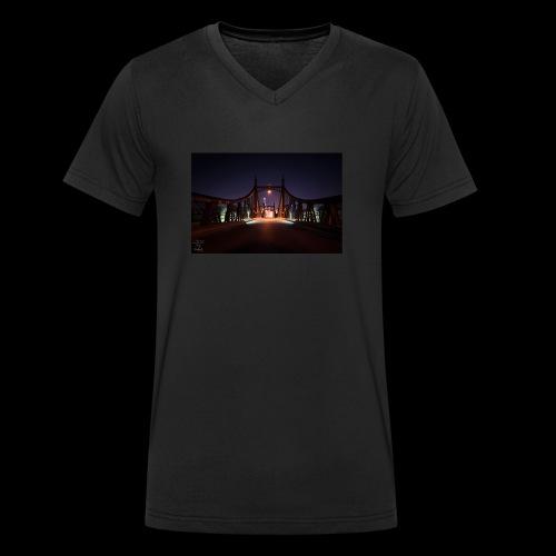 Brücke in Ulm - Männer Bio-T-Shirt mit V-Ausschnitt von Stanley & Stella