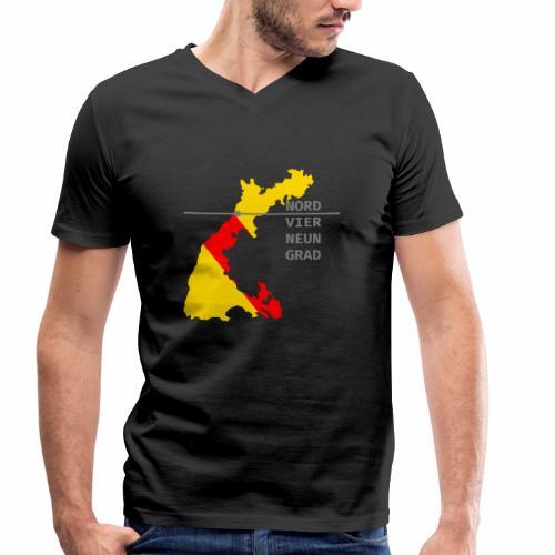 NORDVIERNEUNGRAD - Männer Bio-T-Shirt mit V-Ausschnitt von Stanley & Stella
