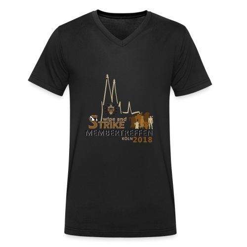 WaS-Membertreffen 2018 - Männer Bio-T-Shirt mit V-Ausschnitt von Stanley & Stella