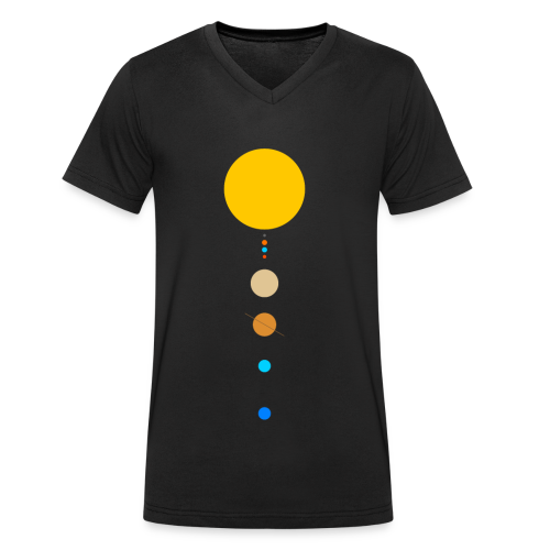 Solar System - Men's Organic V-Neck T-Shirt by Stanley & Stella