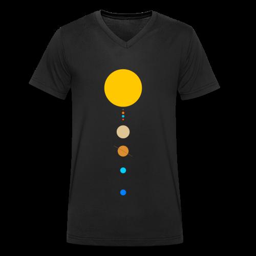 Sonnensystem - Männer Bio-T-Shirt mit V-Ausschnitt von Stanley & Stella