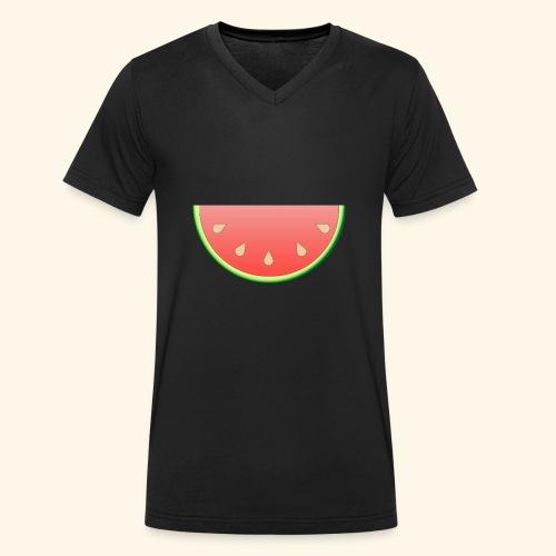 Melone - Männer Bio-T-Shirt mit V-Ausschnitt von Stanley & Stella