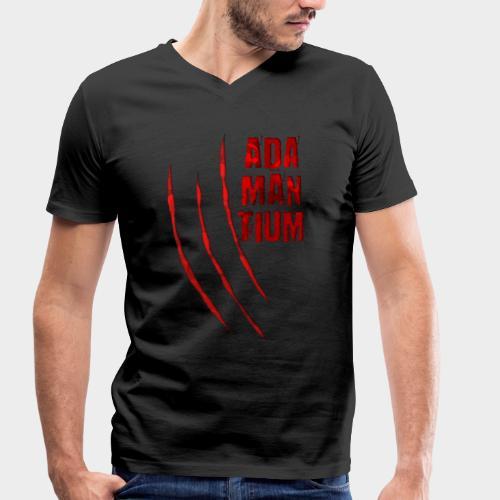 Blutige Monster Krallen Kratzer ADAMANTIUM - Männer Bio-T-Shirt mit V-Ausschnitt von Stanley & Stella