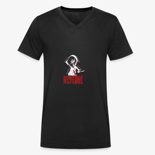 REVENGE x NO MORE PAIN - Ekologisk T-shirt med V-ringning herr från Stanley & Stella