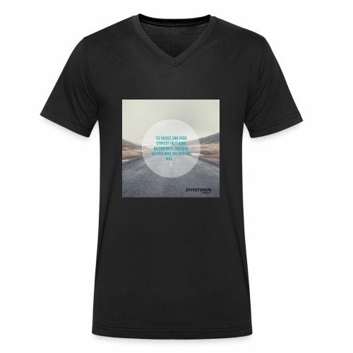 Stay Fast Design #2 - Männer Bio-T-Shirt mit V-Ausschnitt von Stanley & Stella