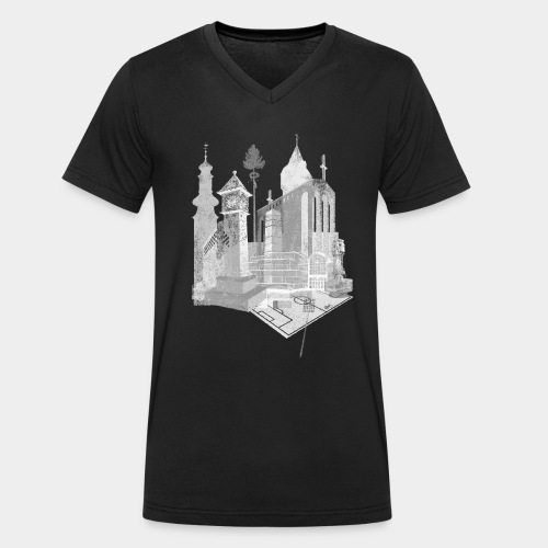Bornheim T-Shirt - Männer Bio-T-Shirt mit V-Ausschnitt von Stanley & Stella