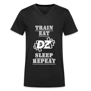 Train, Eat, Sleep, Repeat - Trainingsmotivation - Männer Bio-T-Shirt mit V-Ausschnitt von Stanley & Stella