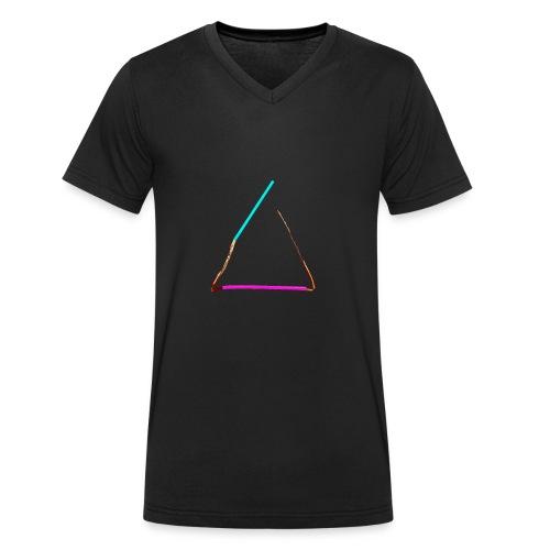 3eck - Dreieck - triangle - Männer Bio-T-Shirt mit V-Ausschnitt von Stanley & Stella