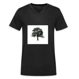 cool cedar tree - Men's Organic V-Neck T-Shirt by Stanley & Stella