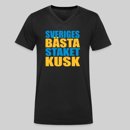 Sveriges bästa staketkusk! - Ekologisk T-shirt med V-ringning herr från Stanley & Stella