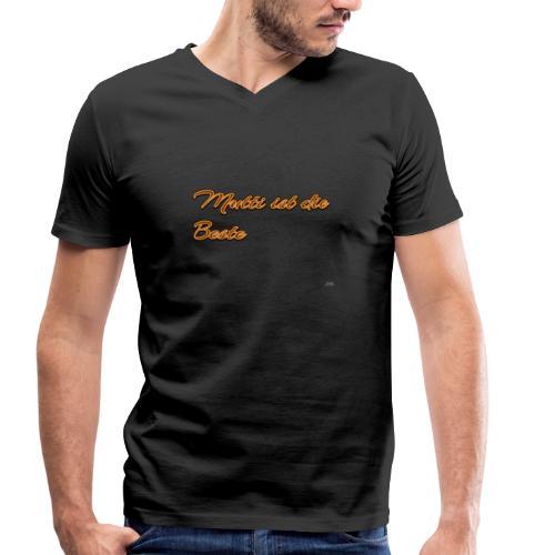 Aufschrift mit Mutti ist die Beste - Männer Bio-T-Shirt mit V-Ausschnitt von Stanley & Stella
