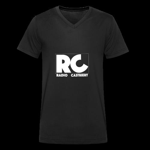 Radio CASTriert Logo 2017/2018 - Männer Bio-T-Shirt mit V-Ausschnitt von Stanley & Stella