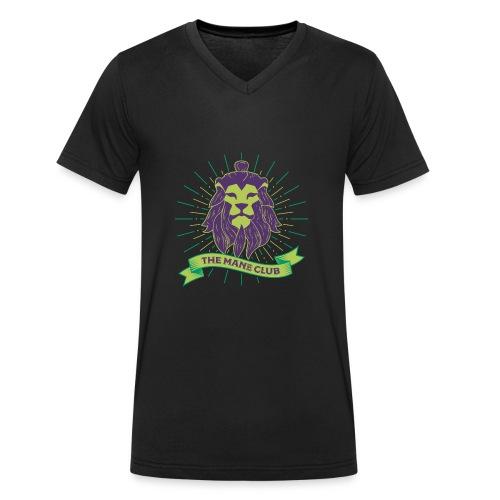 Man / Mane Club - Mann / Mähne Club Green Purple - Männer Bio-T-Shirt mit V-Ausschnitt von Stanley & Stella