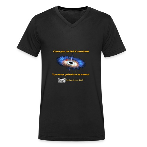 Black Hole - Camiseta ecológica hombre con cuello de pico de Stanley & Stella