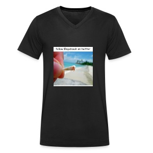 hermit crabs are cute - Men's Organic V-Neck T-Shirt by Stanley & Stella
