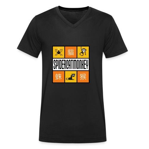 Band-Logo SPIDERCATMONKEY, orange - Männer Bio-T-Shirt mit V-Ausschnitt von Stanley & Stella
