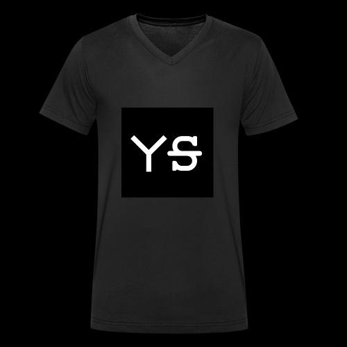 YeetSkeet Letter Logo - Men's Organic V-Neck T-Shirt by Stanley & Stella