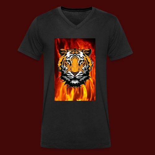 Fire Tiger - Men's Organic V-Neck T-Shirt by Stanley & Stella