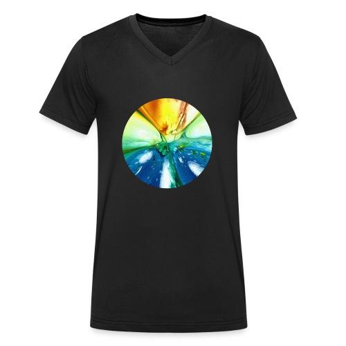 Kreismuster 7 - Männer Bio-T-Shirt mit V-Ausschnitt von Stanley & Stella