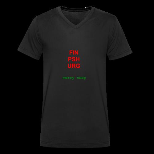 Merry nmap - Men's Organic V-Neck T-Shirt by Stanley & Stella