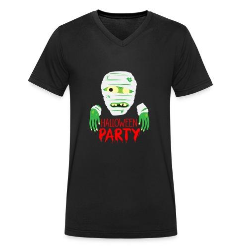 Zombie Halloween Party - Männer Bio-T-Shirt mit V-Ausschnitt von Stanley & Stella
