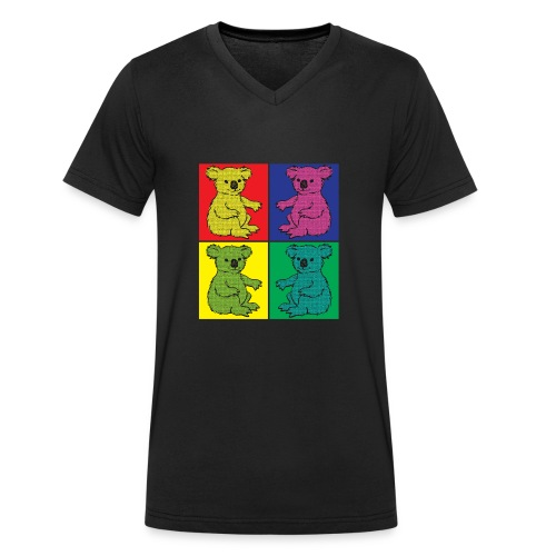 Pop Art Koala - Männer Bio-T-Shirt mit V-Ausschnitt von Stanley & Stella
