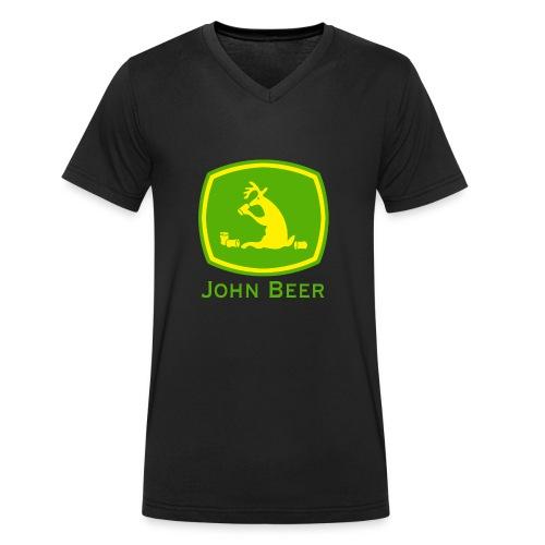 john beer-Funny Shirt - Männer Bio-T-Shirt mit V-Ausschnitt von Stanley & Stella