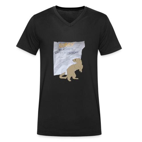 SORRY MY FERRETS ATE MY HOMEWORK - Männer Bio-T-Shirt mit V-Ausschnitt von Stanley & Stella