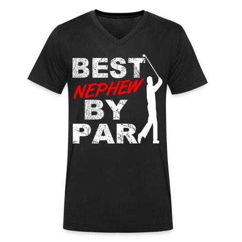 Best Nephew By Par Funny Golf Gift For Golf Loving Nephew Golfers - Men's Organic V-Neck T-Shirt by Stanley & Stella