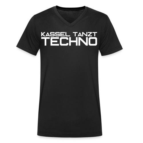 KASSEL TANZT TECHNO - Männer Bio-T-Shirt mit V-Ausschnitt von Stanley & Stella