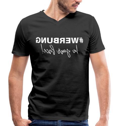 WERBUNG - Logo white - Männer Bio-T-Shirt mit V-Ausschnitt von Stanley & Stella