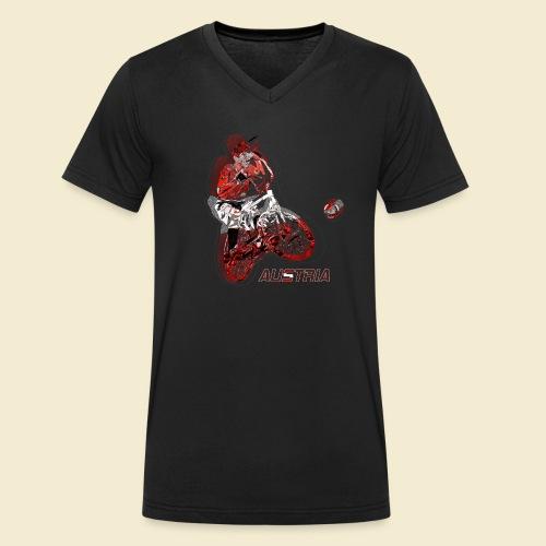Radball | Austria - Männer Bio-T-Shirt mit V-Ausschnitt von Stanley & Stella
