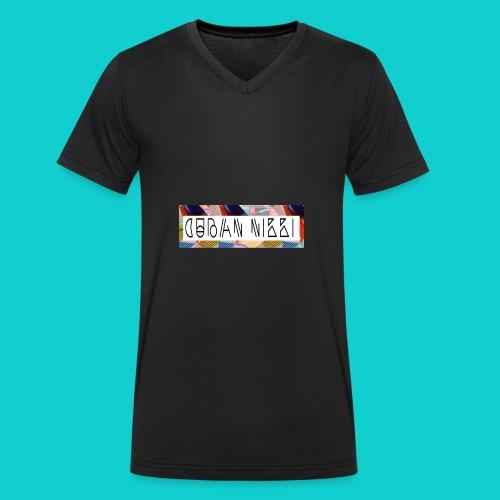 Cuban Nikki Logo - Men's Organic V-Neck T-Shirt by Stanley & Stella