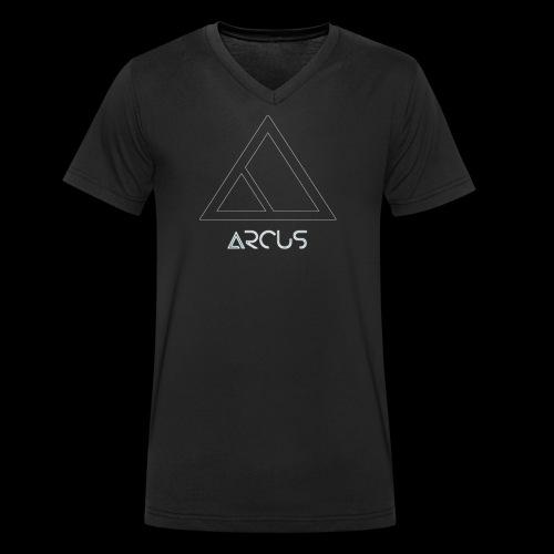 Arcus logo Blanc - T-shirt bio col V Stanley & Stella Homme