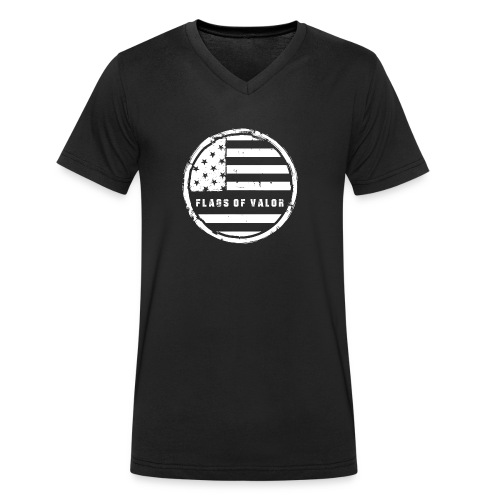 flags of valor - Men's Organic V-Neck T-Shirt by Stanley & Stella